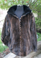 Two Tone black Ranch and Demi buff Mink Jacket